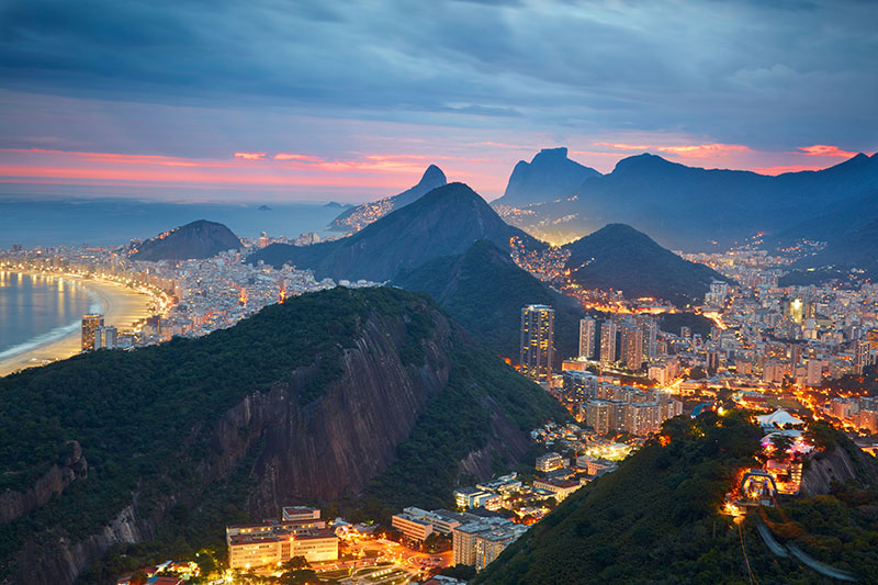 Picture of Rio at night, Brazil